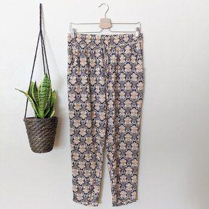 Umgee Damask Print Elastic Pants